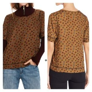 Scotch & Soda Maison Scotch Star Print Lattice Top